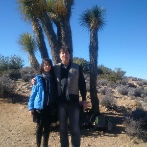 Kyra and Tully Joshua Tree California 2015